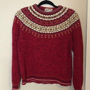 Vintage Christmas Sweater Cotton Blend M
